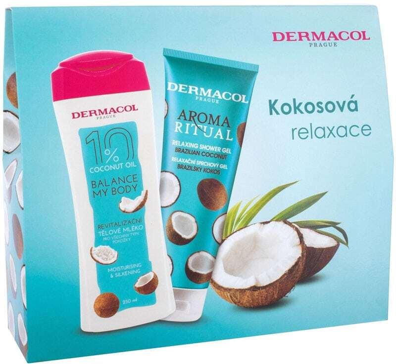 Dermacol Aroma Ritual Brazilian Coconut Shower Gel 250ml Combo: Shower Gel 250 Ml + Body Lotion 250 Ml