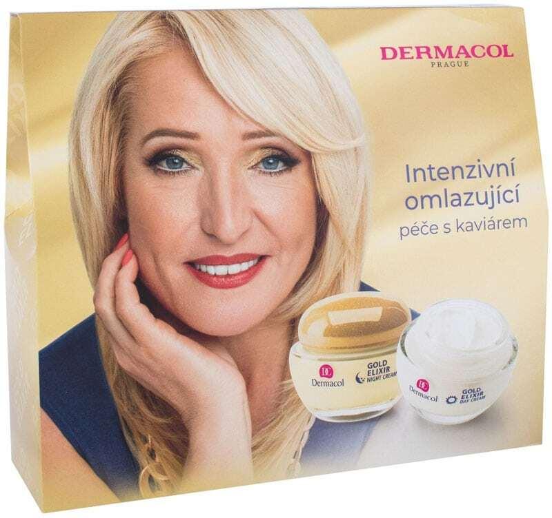 Dermacol Gold Elixir Day Cream 50ml Combo: Daily Facial Care 50 Ml + Night Facial Care 50 Ml (Wrinkles)