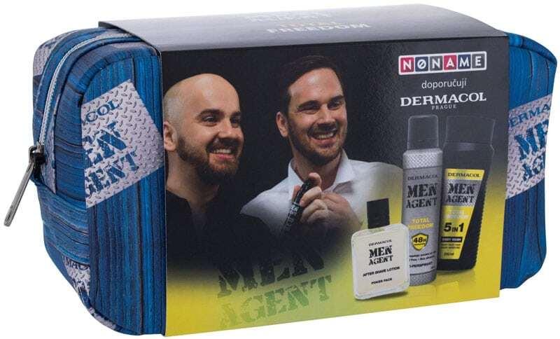 Dermacol Men Agent Total Freedom 3in1 Shower Gel 250ml Combo: Shower Gel 250 Ml + Antiperspirant 150 Ml + Aftershave Lotion 100 Ml + Cosmetic Bag