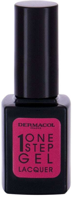 Dermacol One Step Gel Lacquer Nail Polish 05 Carmine Red 11ml