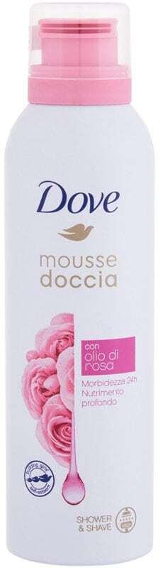 Dove Shower Mousse Rose Oil Shower Foam 200ml