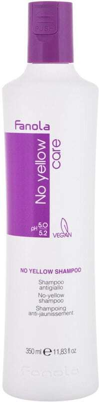 Fanola No Yellow Shampoo 350ml (Blonde Hair - Highlighted Hair - Grey Hair)