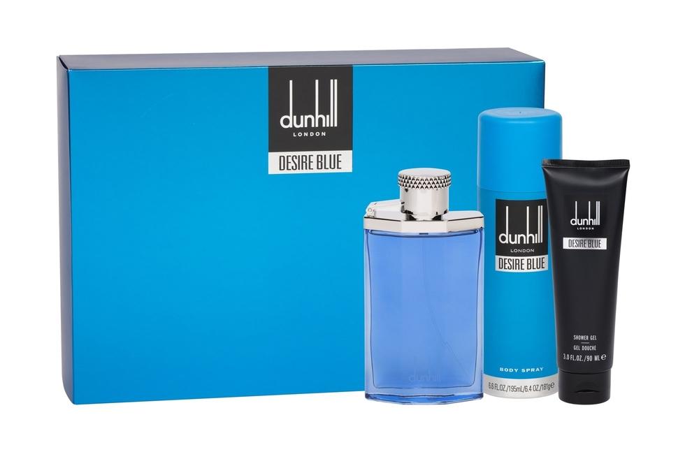 Dunhill Desire Blue Eau De Toilette 3 Pcs Set Eau De Toilette 100ml + Body Spray 195ml + Shower Gel 90ml