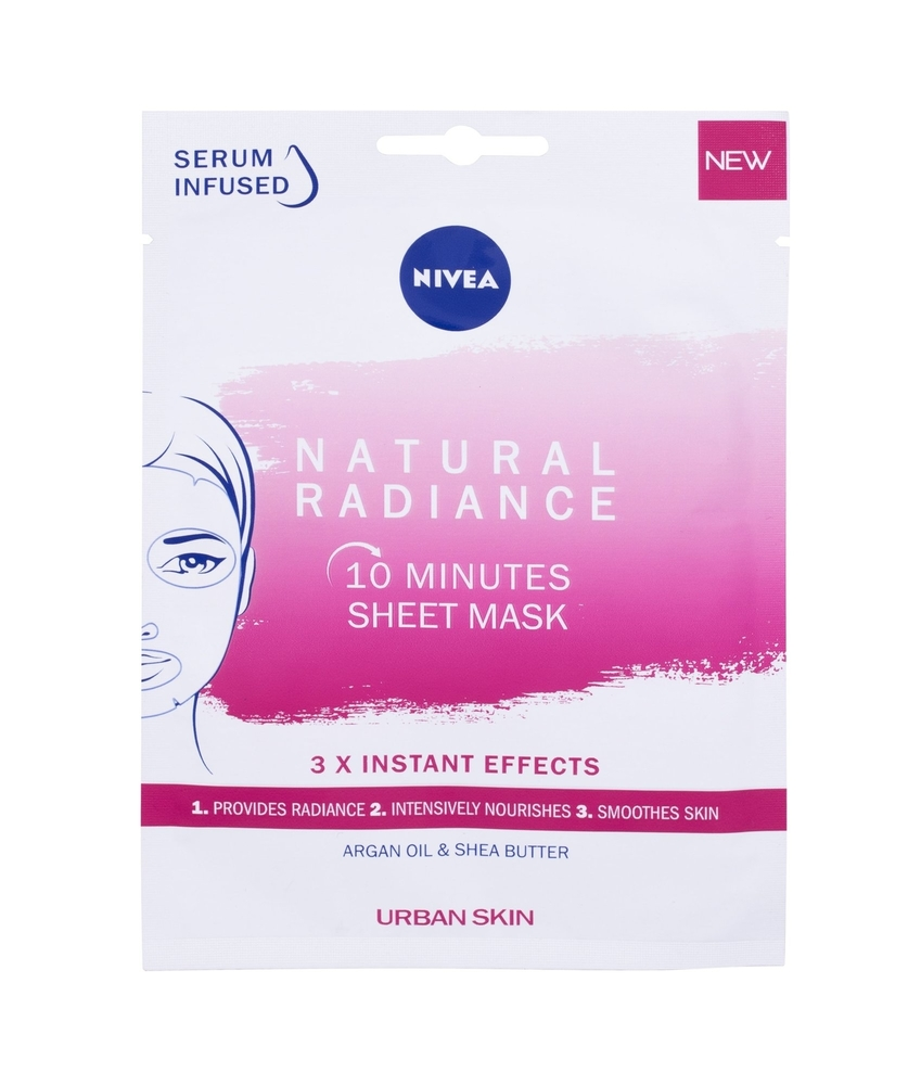 Nivea Natural Radiance 10 Minutes Sheet Mask Face Mask 1pc (All Skin Types - For All Ages)