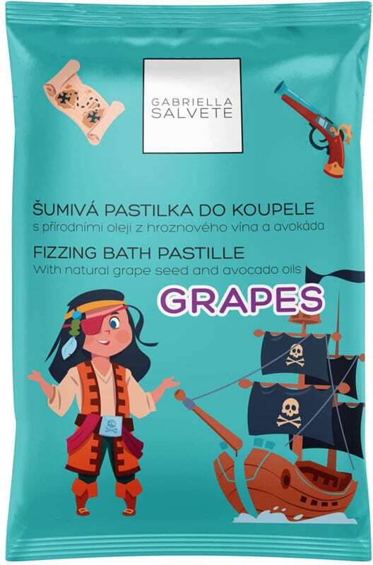 Gabriella Salvete Fizzing Bath Pastille Bath Foam Grapes 40gr