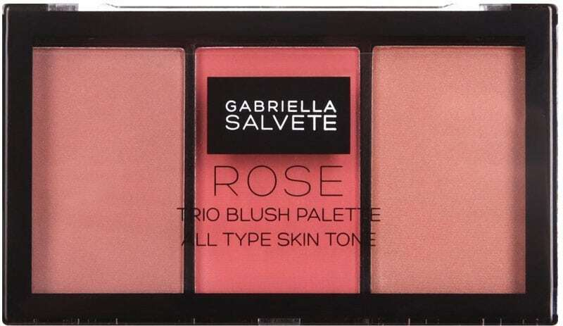 Gabriella Salvete Trio Blush Palette Blush 02 Rose 15gr