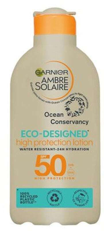 Garnier Ambre Solaire Eco-Designed High Protection Lotion SPF50 Sun Body Lotion 200ml (Waterproof)