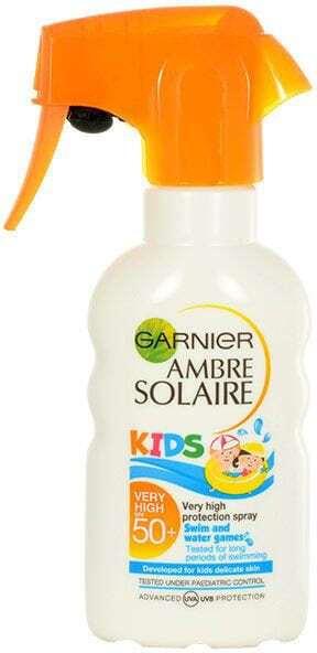 Garnier Ambre Solaire Kids Sensitive Advanced SPF50+ Sun Body Lotion 200ml (Waterproof)