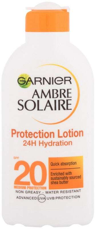 Garnier Ambre Solaire Protection Lotion SPF20 Sun Body Lotion 200ml (Waterproof)
