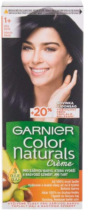Garnier Color Naturals Créme Hair Color 1+ Ultra Black 40ml (Colored Hair - All Hair Types)