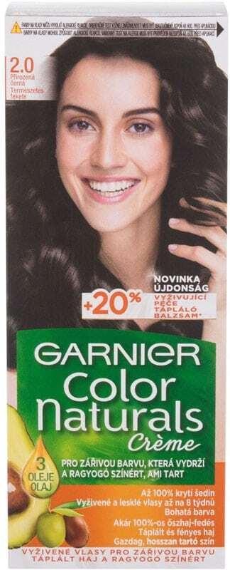 Garnier Color Naturals Créme Hair Color 2,0 Soft Black 40ml (Colored Hair - All Hair Types)