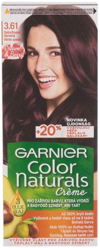 Garnier Color Naturals Créme Hair Color 3,61 Luscious Blackberry 40ml (Colored Hair - All Hair Types)