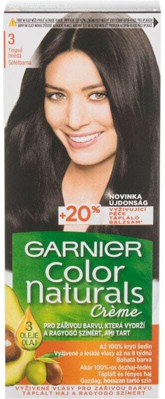 Garnier Color Naturals Créme Hair Color 3 Natural Dark Brown 40ml (Colored Hair - All Hair Types)