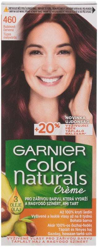 Garnier Color Naturals Créme Hair Color 460 Fiery Black Red 40ml (Colored Hair - All Hair Types)