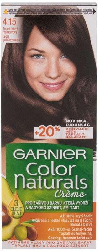 Garnier Color Naturals Créme Hair Color 4,15 Frosty Dark Mahogany 40ml (Colored Hair - All Hair Types)