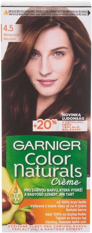 Garnier Color Naturals Créme Hair Color 4,5 Mahogany 40ml (Colored Hair - All Hair Types)