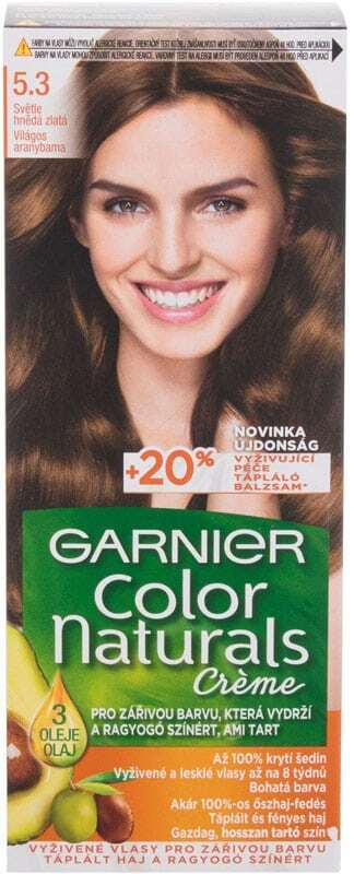 Garnier Color Naturals Créme Hair Color 5,3 Natural Light Golden Brown 40ml (Colored Hair - All Hair Types)