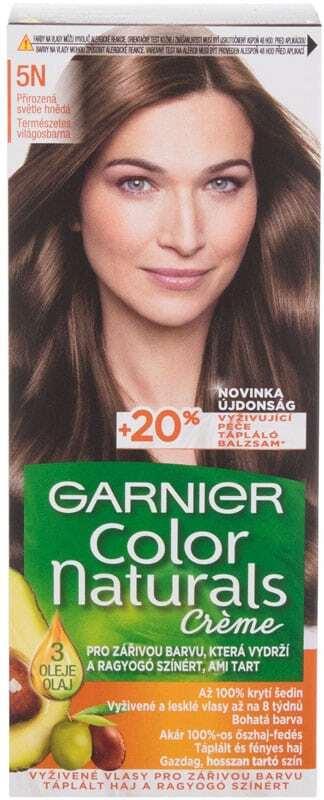 Garnier Color Naturals Créme Hair Color 5N Nude Light Brown 40ml (Colored Hair - All Hair Types)