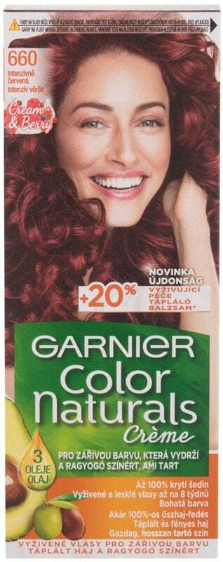 Garnier Color Naturals Créme Hair Color 660 Fiery Pure Red 40ml (Colored Hair - All Hair Types)