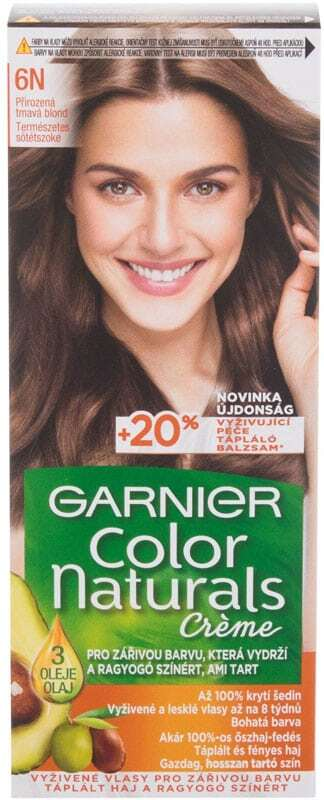 Garnier Color Naturals Créme Hair Color 6N Nude Dark Blonde 40ml (Colored Hair - All Hair Types)