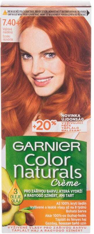 Garnier Color Naturals Créme Hair Color 7,40+ Copper Passion 40ml (Colored Hair - All Hair Types)