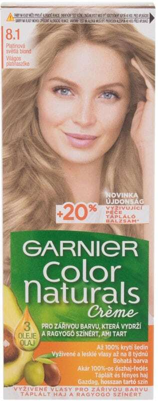 Garnier Color Naturals Créme Hair Color 8,1 Natural Light Ash Blond 40ml (Colored Hair - Blonde Hair - All Hair Types)
