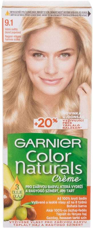 Garnier Color Naturals Créme Hair Color 9,1 Natural Extra Light Ash Blond 40ml (Colored Hair - All Hair Types)