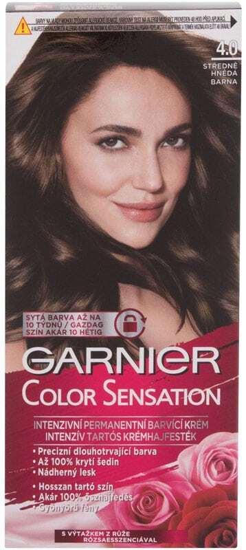 Garnier Color Sensation Hair Color 4,0 Deep Brown 40ml (Colored Hair - All Hair Types)