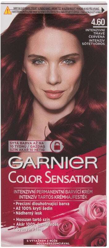 Garnier Color Sensation Hair Color 4,60 Intense Dark Red 40ml (Colored Hair - All Hair Types)