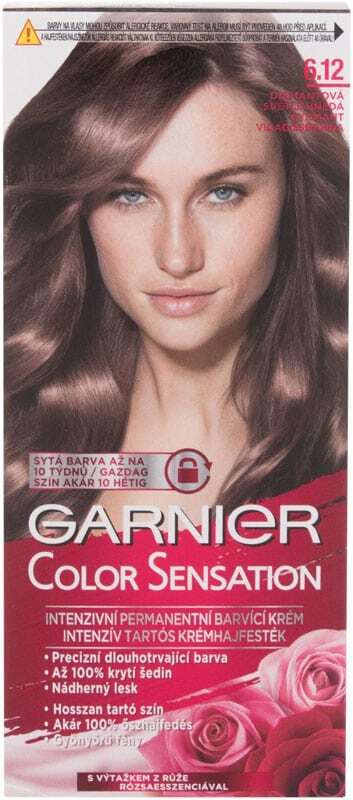 Garnier Color Sensation Hair Color 6,12 Diamond Light Brown 40ml (Colored Hair - All Hair Types)