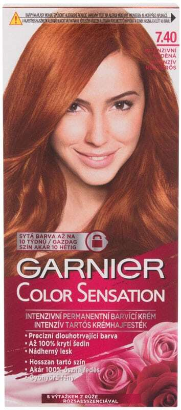 Garnier Color Sensation Hair Color 7,40 Intense Amber 40ml (Colored Hair - All Hair Types)