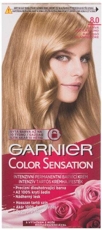 Garnier Color Sensation Hair Color 8,0 Luminous Light Blond 40ml (Colored Hair - All Hair Types)