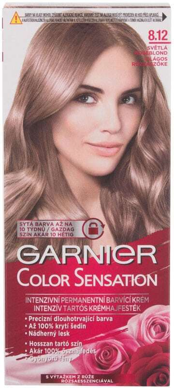 Garnier Color Sensation Hair Color 8,12 Light Roseblonde 40ml (Colored Hair - Blonde Hair - All Hair Types)