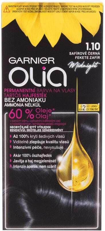 Garnier Olia Hair Color 1,10 Black Sapphire 50gr (Colored Hair - All Hair Types)