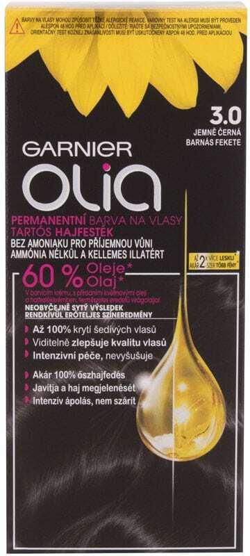 Garnier Olia Hair Color 3,0 Soft Black 50gr (Colored Hair - All Hair Types)