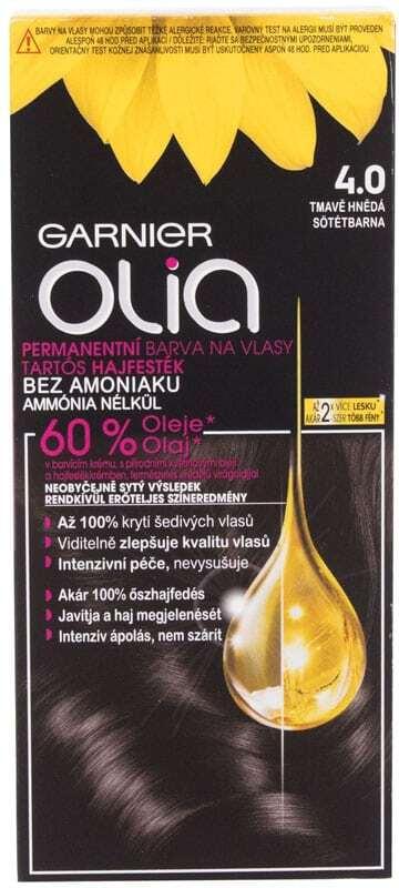 Garnier Olia Hair Color 4,0 Dark Brown 50gr (Colored Hair - All Hair Types)