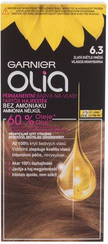 Garnier Olia Hair Color 6,3 Golden Light Brown 50gr (Colored Hair - All Hair Types)