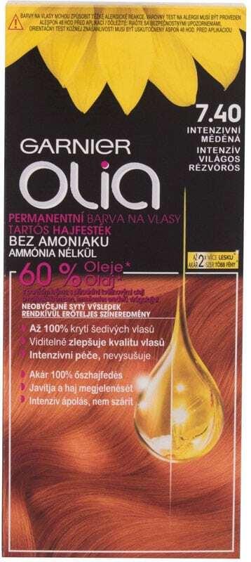 Garnier Olia Hair Color 7,40 Intense Copper 50gr (Colored Hair - All Hair Types)