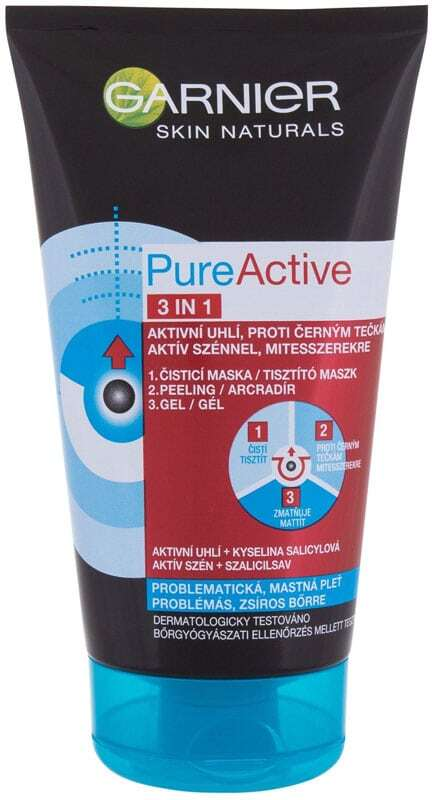 Garnier Pure Active 3in1 Face Mask 150ml (For All Ages)