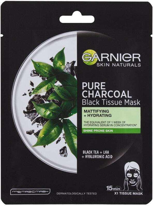 Garnier Skin Naturals Pure Charcoal Tea Face Mask 1pc (For All Ages)