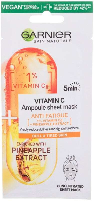 Garnier Skin Naturals Vitamin C Ampoule Face Mask 1pc (For All Ages)