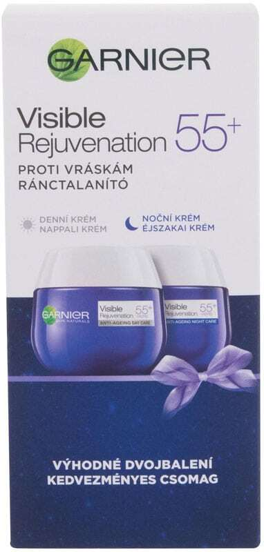 Garnier Visible Rejuvenation 55+ Duo Set Day Cream 50ml Combo: Visible Rejuvenation 55+ Anti-Ageing Day Cream 50 Ml + Visible Rejuvenation Anti-Ageing Night Cream 50 Ml (Wrinkles - Mature Skin)