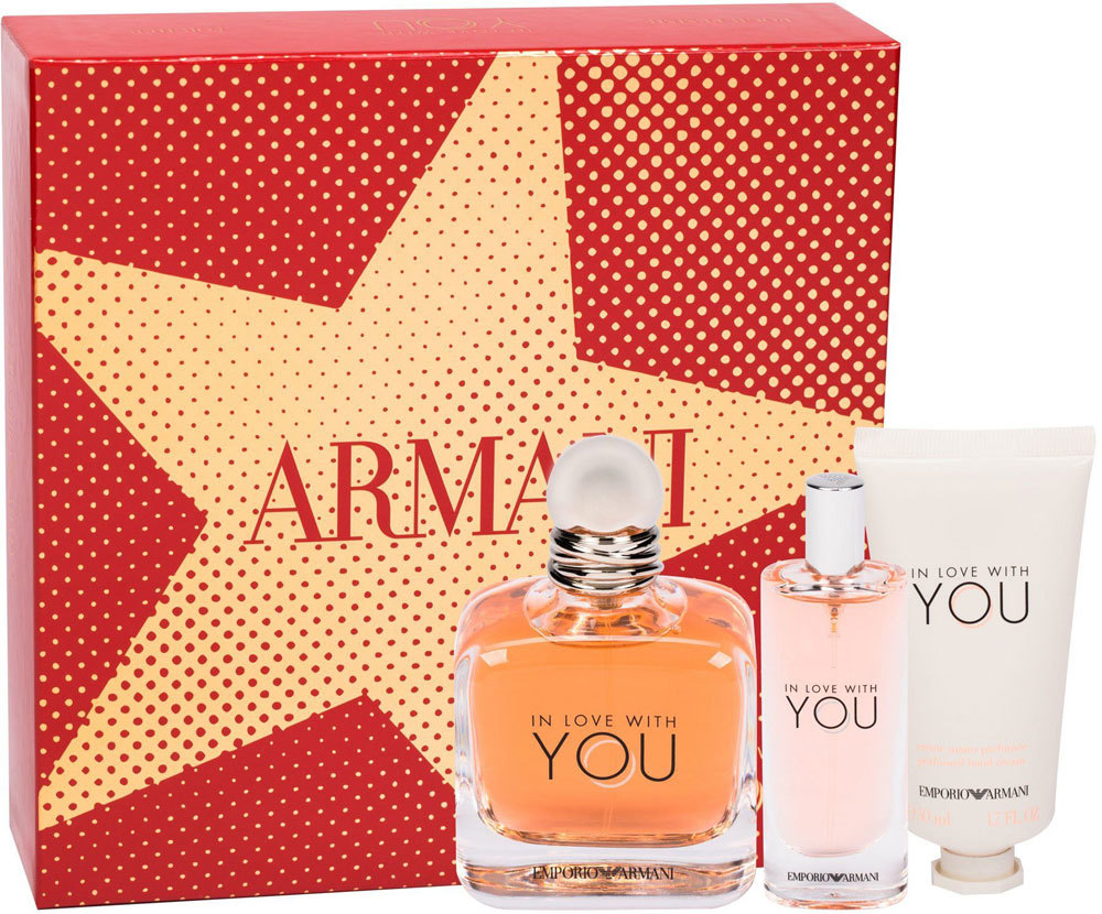 Giorgio Armani Emporio Armani In Love With You Eau de Parfum 100ml Combo: Edp 100 Ml + Edp 15 Ml + Hand Cream 50 Ml
