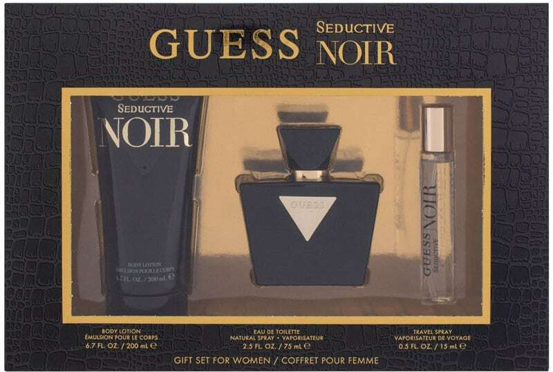 Guess Seductive Noir Eau de Toilette 75ml Combo: Edt 75 Ml + Body Lotion 200 Ml + Edt 15 Ml