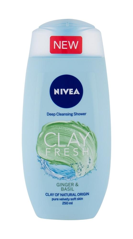 Nivea Clay Fresh Shower Gel 250ml Ginger Basil