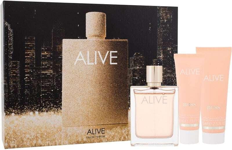 Hugo Boss BOSS Alive Eau de Parfum 80ml Combo: Edp 80 Ml + Body Lotion 75 Ml + Shower Gel 50 Ml