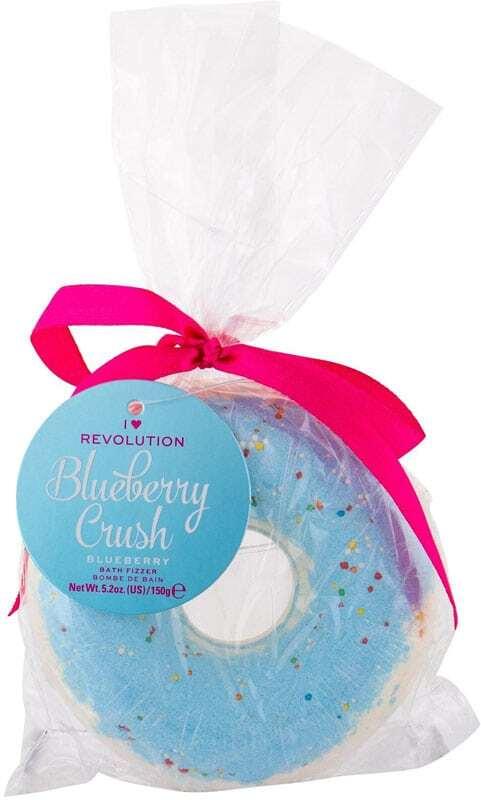 I Heart Revolution Bath Fizzer Donut Bath Foam Blueberry Crush 150gr