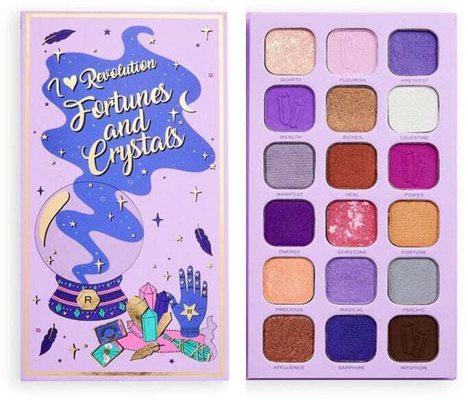 I Heart Revolution Book of Spells Fortunes & Crystals Palette Eye Shadow 18gr
