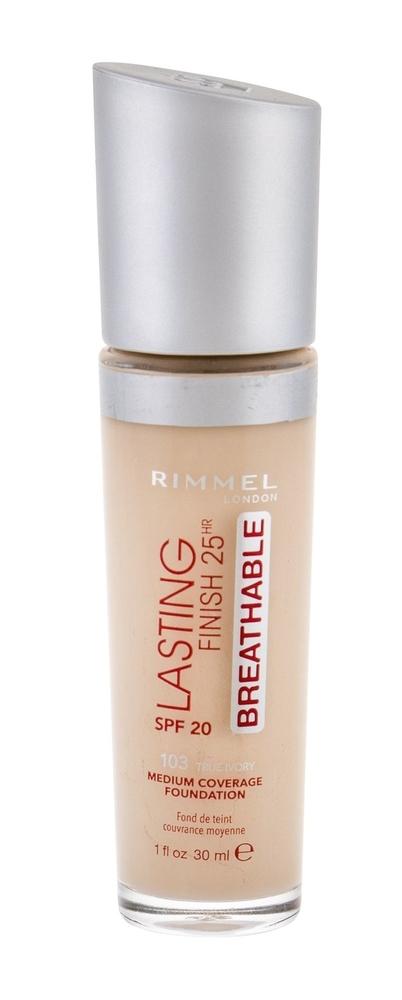Rimmel London Lasting Finish Breathable Makeup 30ml 25hr Spf20 103 True Ivory