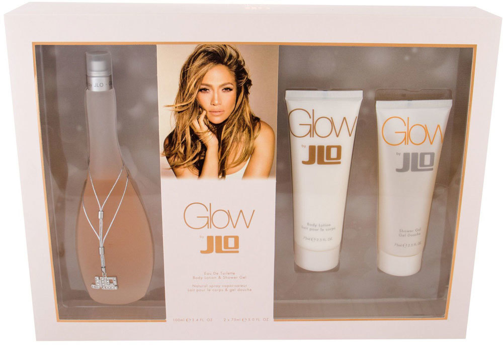 Jennifer Lopez Glow By JLo Eau de Toilette 100ml Combo: Edt 100 Ml + Body Lotion 75 Ml + Shower Gel 75 Ml